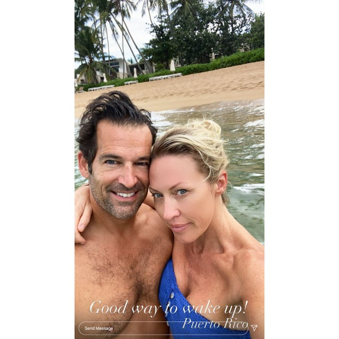 Sean Burke and Braunwyn Windham-Burke on the beach in Puerto Rico Real Housewives Of Orange County Braunwyn Windham-Burke Says She and Husband Sean Burke Have a Modern Marriage After Split Speculation