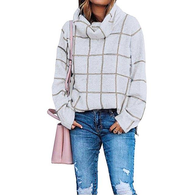KIRUNDO 2020 Winter Women's Turtleneck Knit Sweater (Beige)