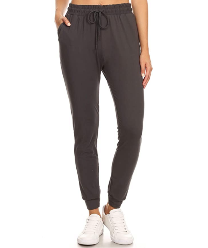 LA12ST Women's Juniors Soft Jogger Pants (Charcoal)