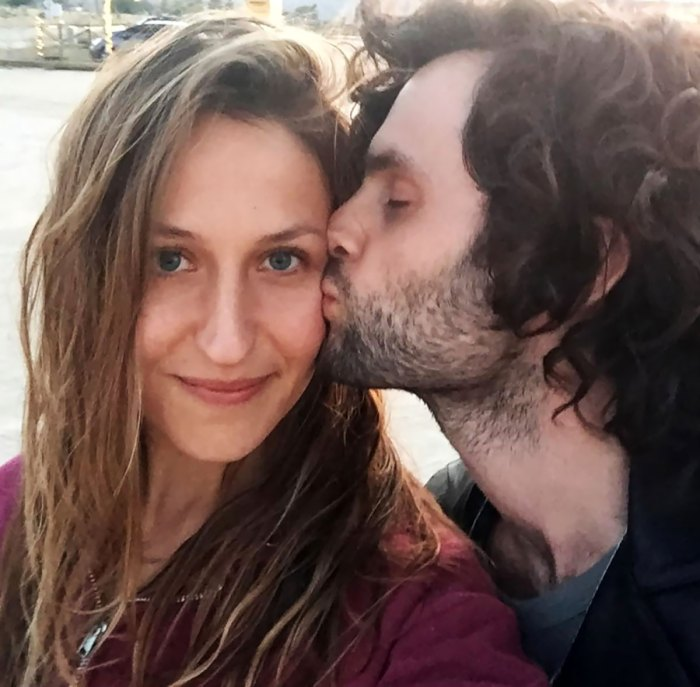 Penn Badgley Holds His Domino Kirke Baby Boy Sweet Father-Son Shot