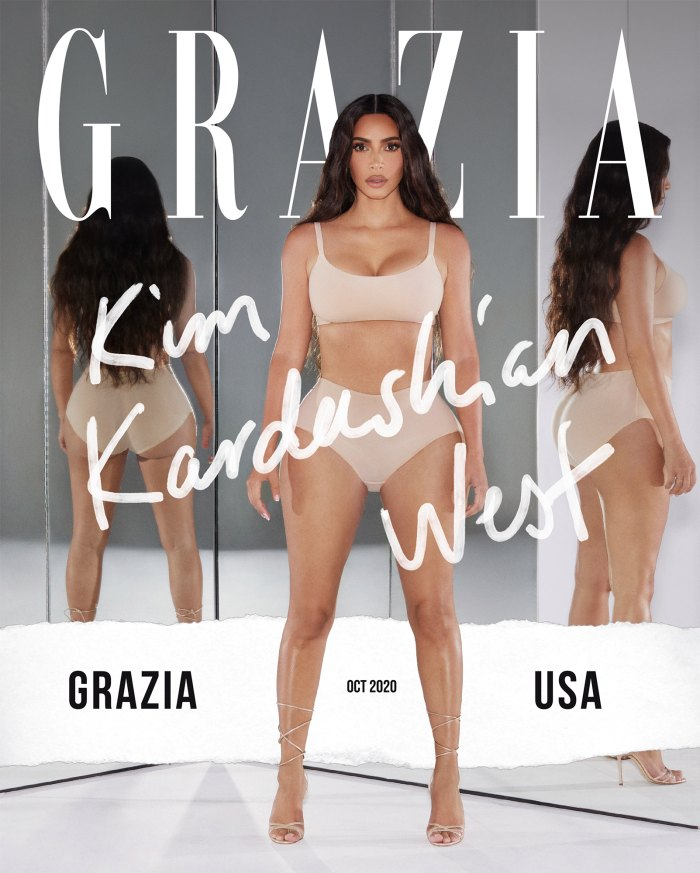 Kim Kardashian Details Nursing Kanye West While He Battled COVID-19 in 1st Issue of Grazia USA
