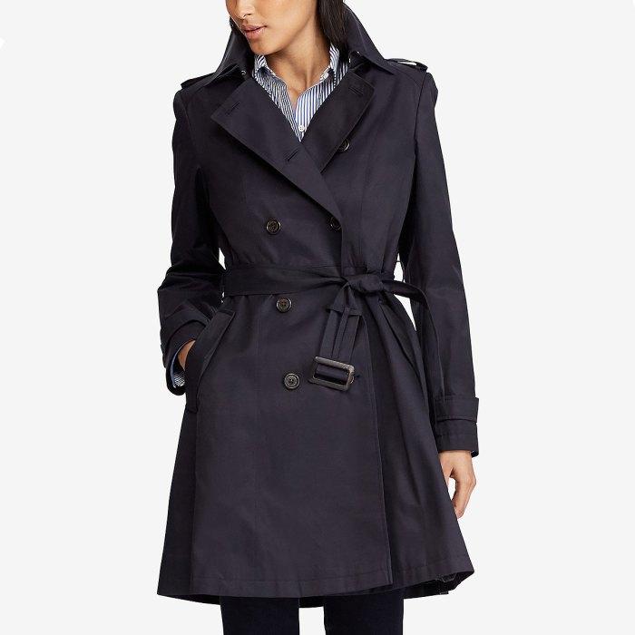 Ralph Lauren Belted Water Resistant Trench Coat
