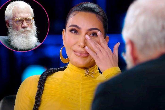 Kim Kardashian Breaks Down Crying David Letterman Interview