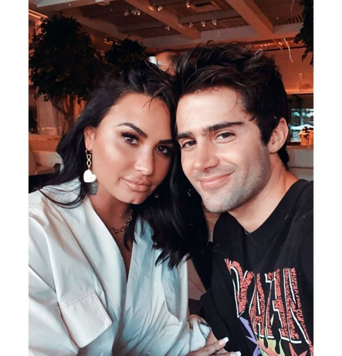 Demi Lovato Attends Halloween Event With Pal, Max Ehrich Posts Tearful Selfie