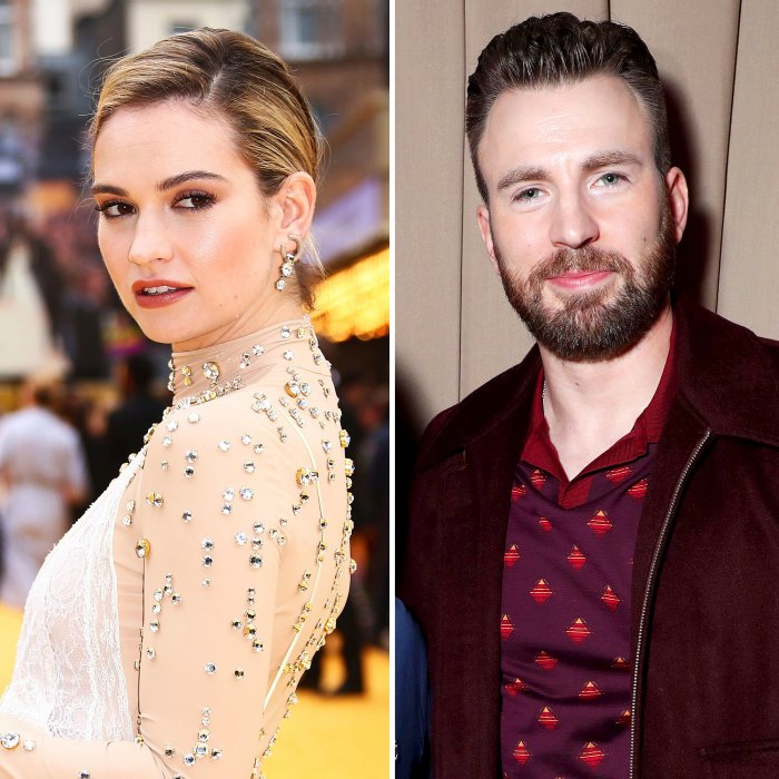 Lily James Still Won't Give Anything Away When Asked About Chris Evans Romance Rumors