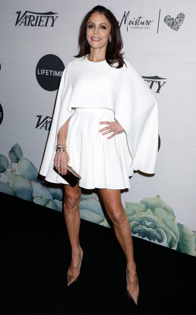 Bethenny Frankel Solo Date Night in New York City All White