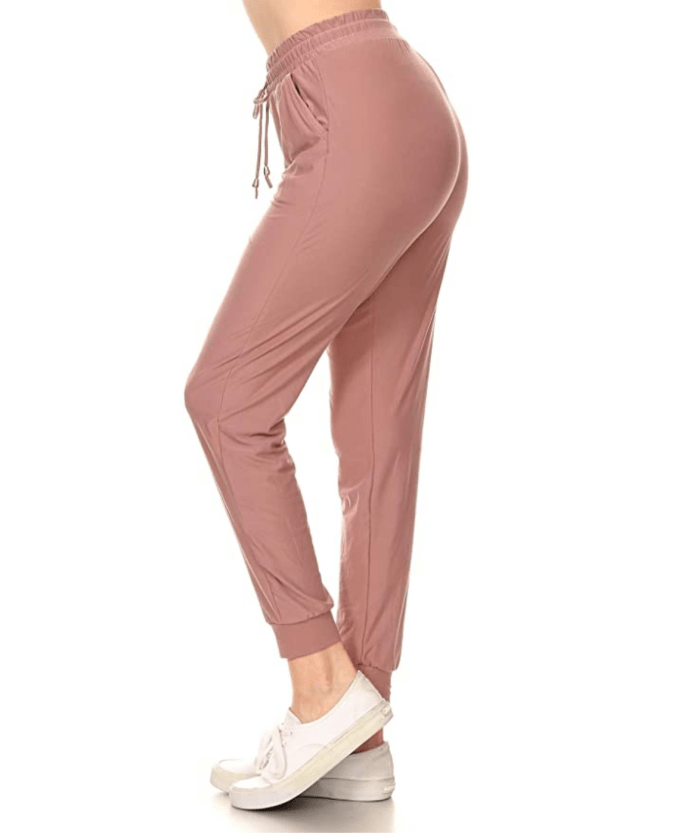 LA12ST Women's Juniors Soft Jogger Pants (Mauve)