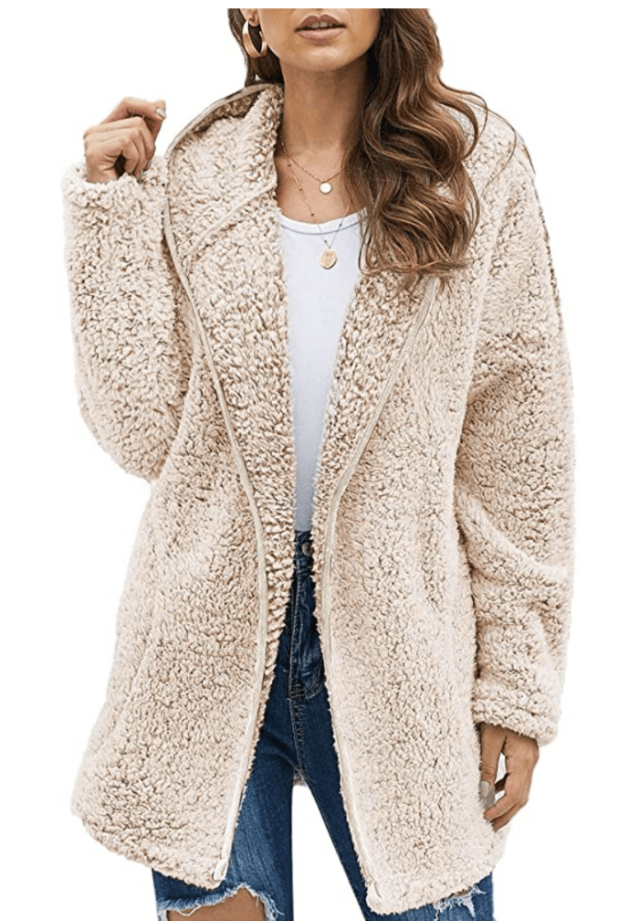 Dokotoo Women's Long Sleeve Solid Fuzzy Fleece