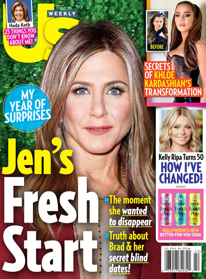Kelly Ripa Passionate About Production Company With Mark Consuelos Us Weekly Issue 4220 Cover Jennifer Aniston