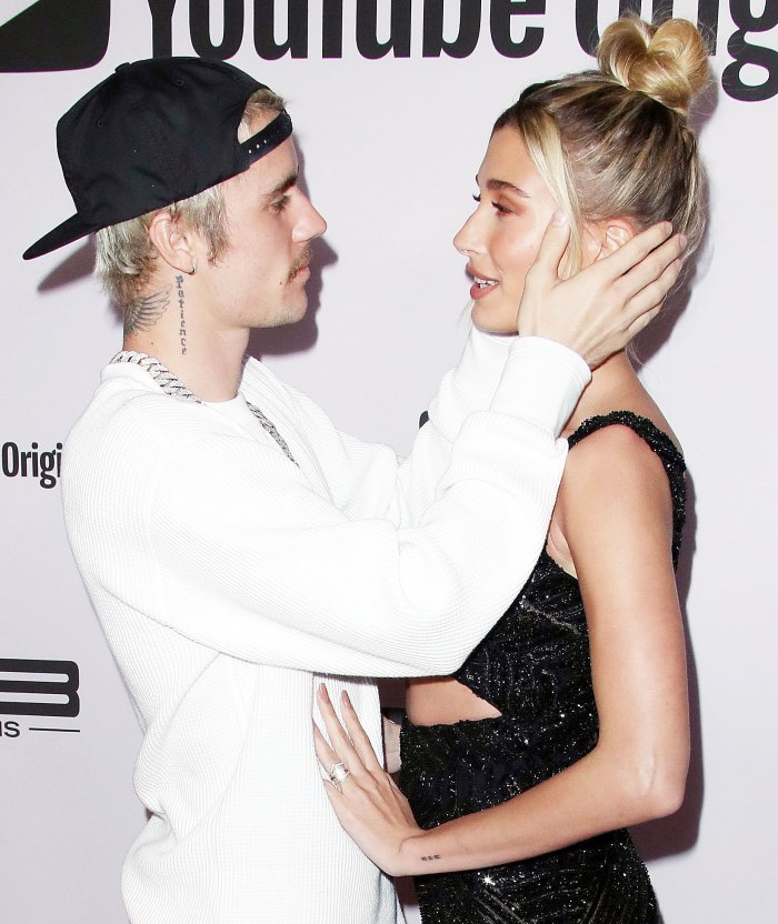 Justin Bieber Holding Hailey Bieber Face at the premiere of Justin Bieber Seasons Hilaria Baldwin Says Justin Bieber and Hailey Baldwin Are Definitely Soulmates