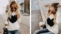 Shermie Pullover Cute Heart Sweater