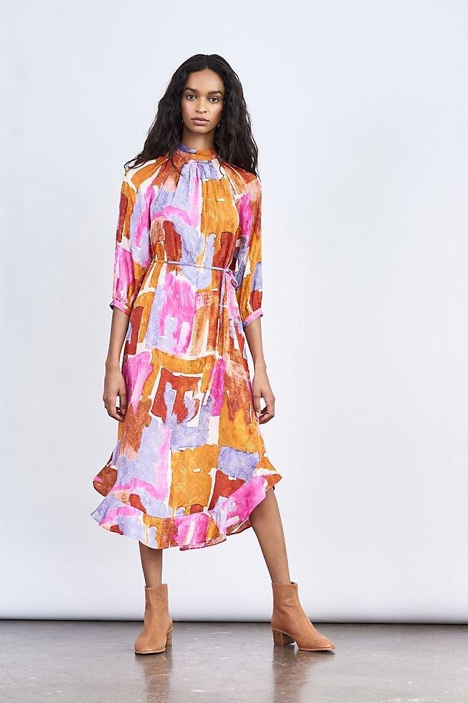 Jessamine Mock Neck Maxi Dress