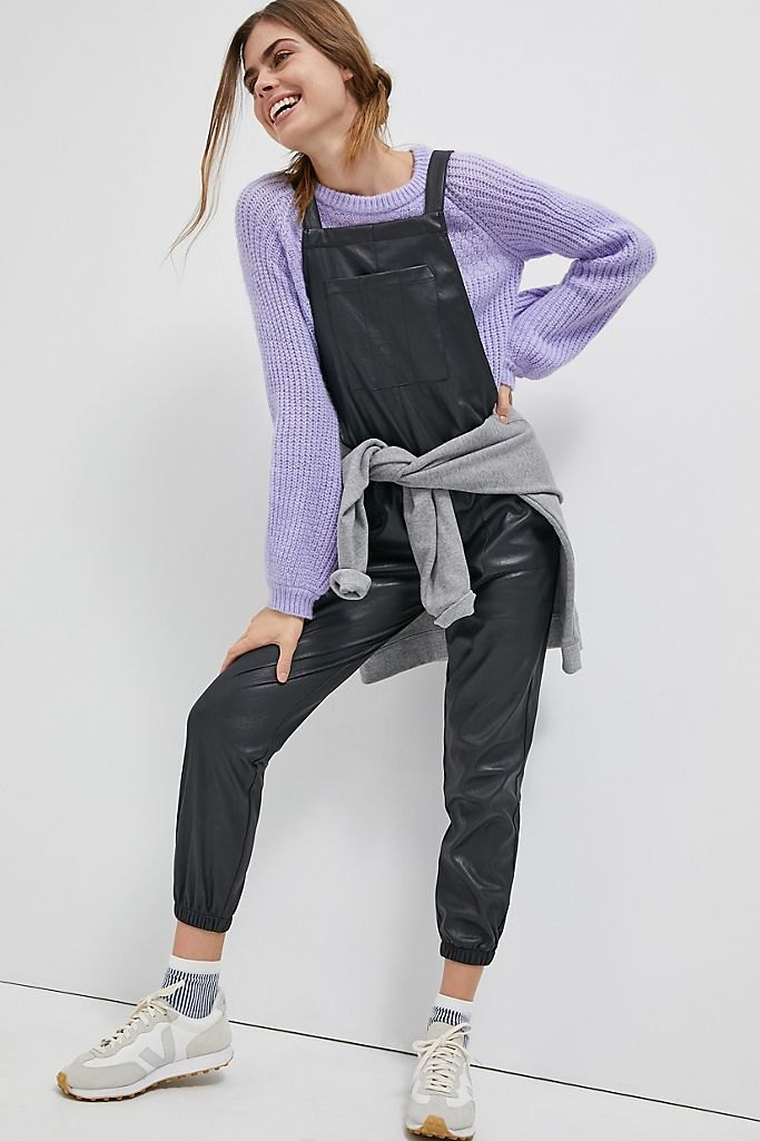 Freja Faux Leather Overalls