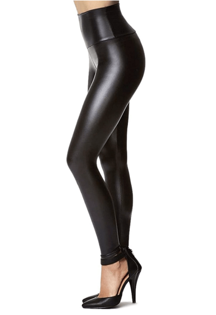 Tagoo Women's Stretchy Faux Leather Leggings Pants