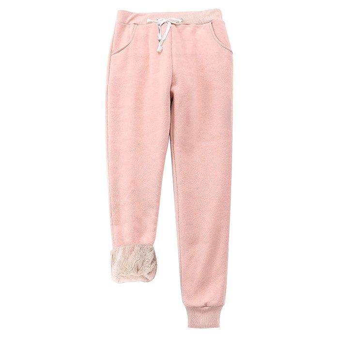 amazon-sherpa-lined-sweatpant-joggers-pink