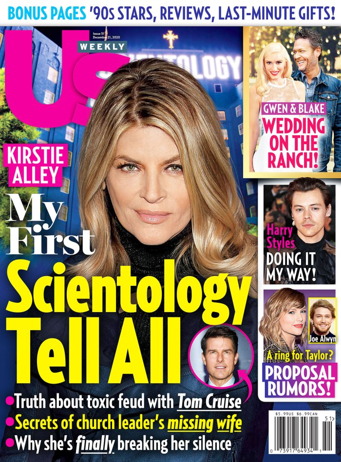 Us Weekly Issue 5120 Cover Scientology Inside Kirstie Alley and Leah Remini Feud Over Scientology