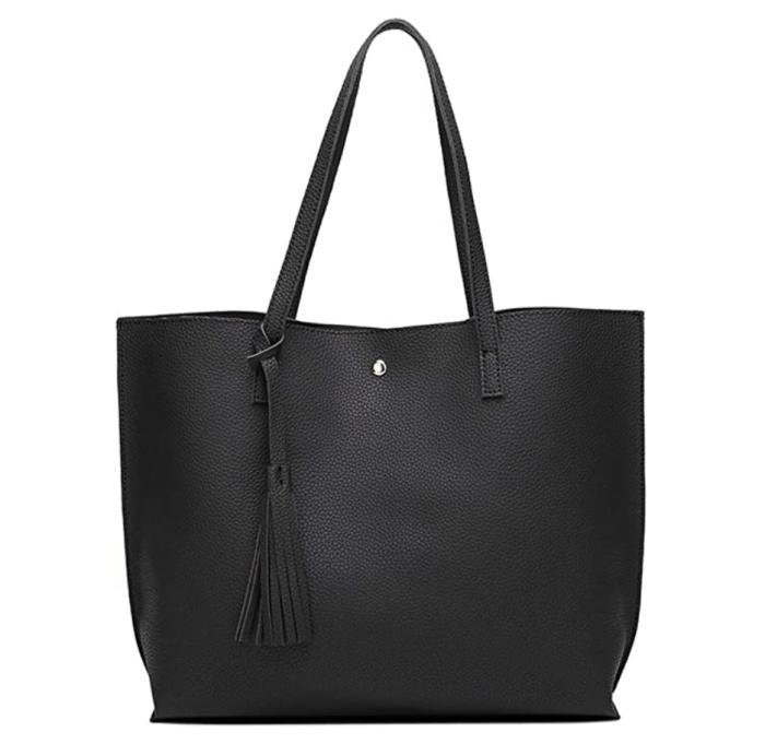 Dreubea Women's Soft Faux Leather Tote Shoulder Bag