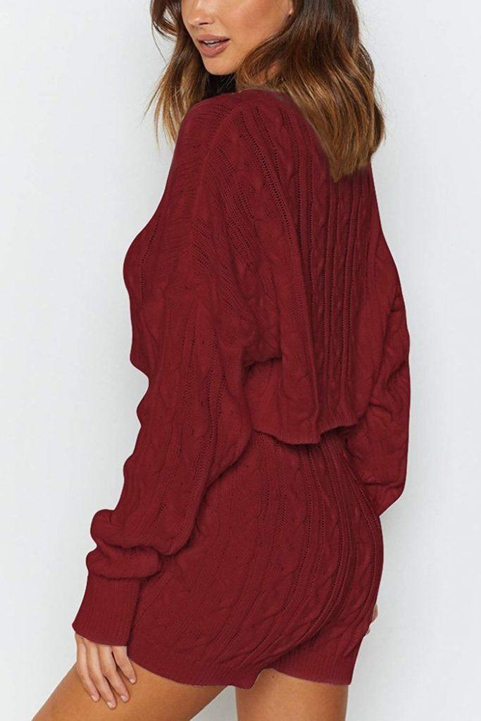 Pink Queen 2-Piece Sweater Short Set