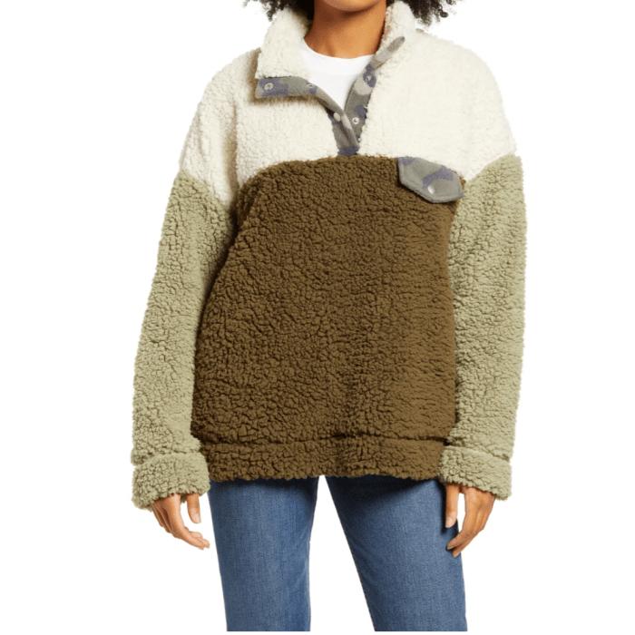 Thread & Supply Elm Colorblock Fleece Jacket