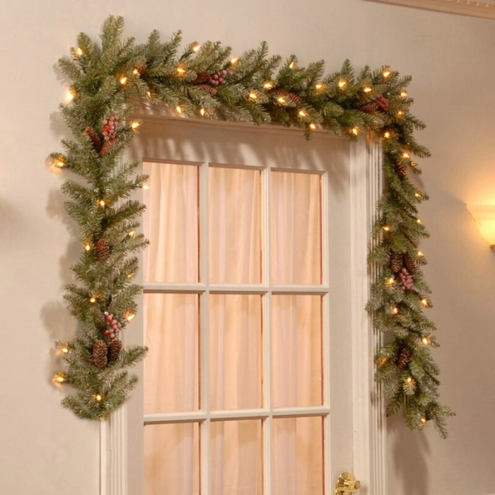 Andover Mills 9' Dunhill Fir Pre-Lit Garland with 50 Warm Clear/White Lights