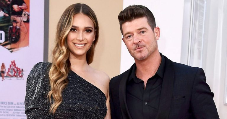 Robin Thicke's Pregnant Fiancee April Love Geary Defends Nude Baby Bump Pic