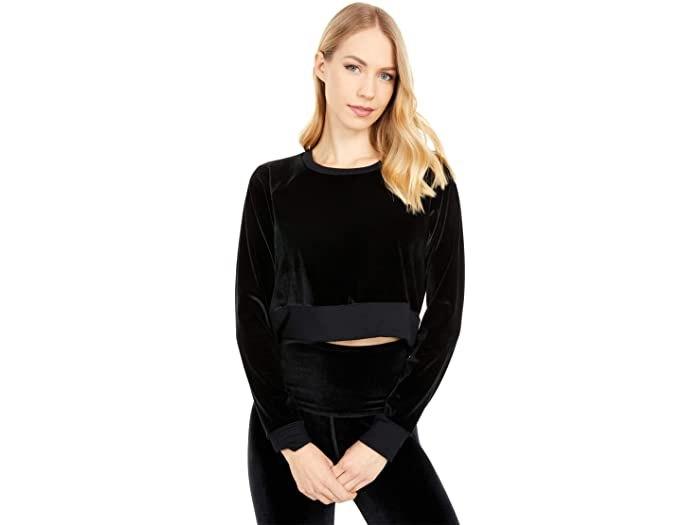 Beyond Yoga Cropped Velvet Pullover