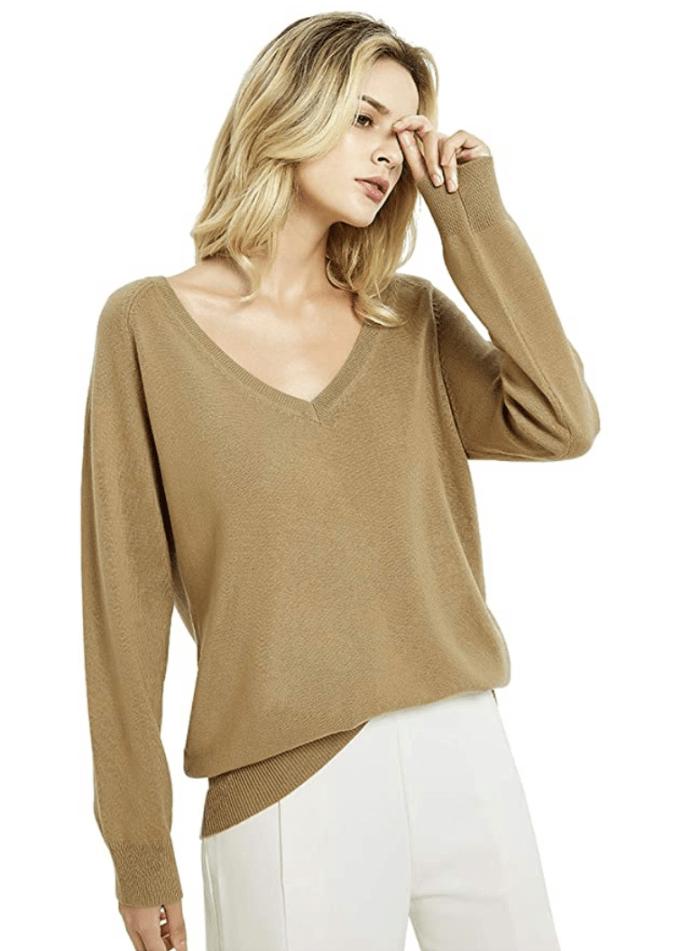 Kallspin Women's Cashmere Blended Sweater