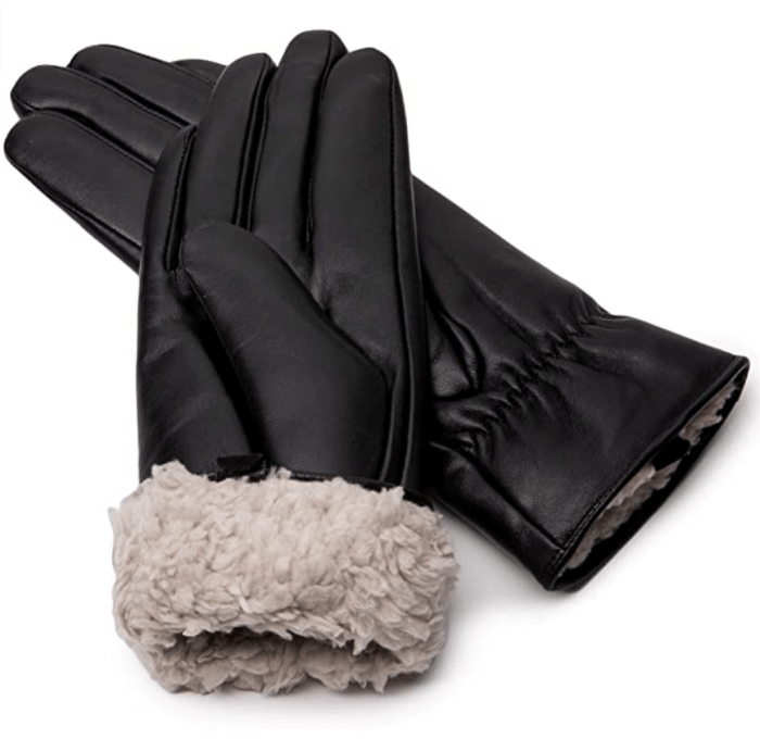 SG Fashion Tochuty Women's Leather Winter Gloves