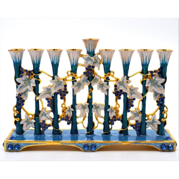 Ciel Collectables Jeweled Hand Painted Enamel Menorah