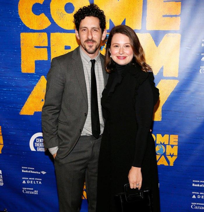Katie Lowes Adam Shapiro gives birth
