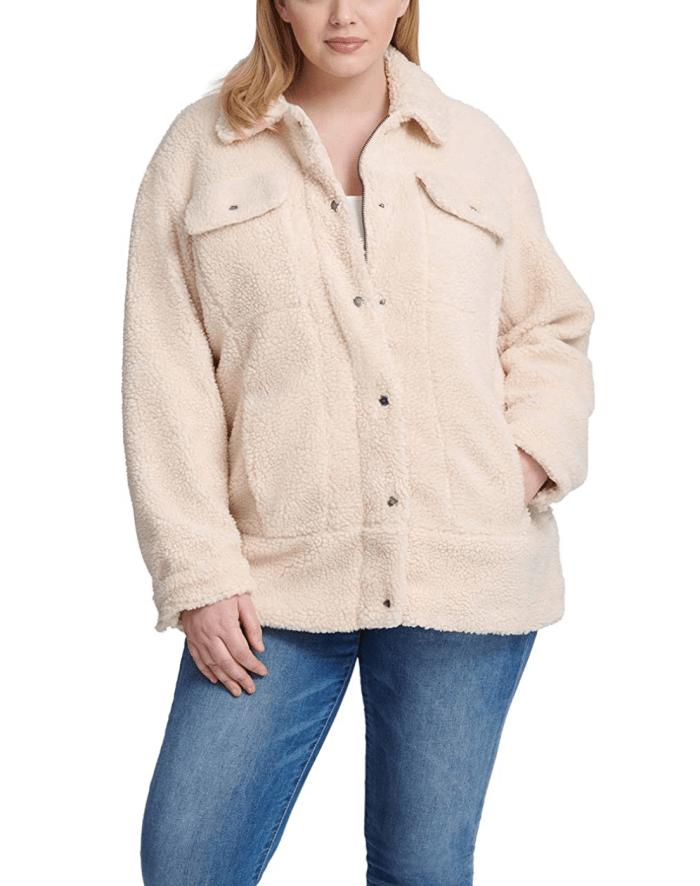 Levi's Women's Oversized Long Sherpa Trucker Jacket