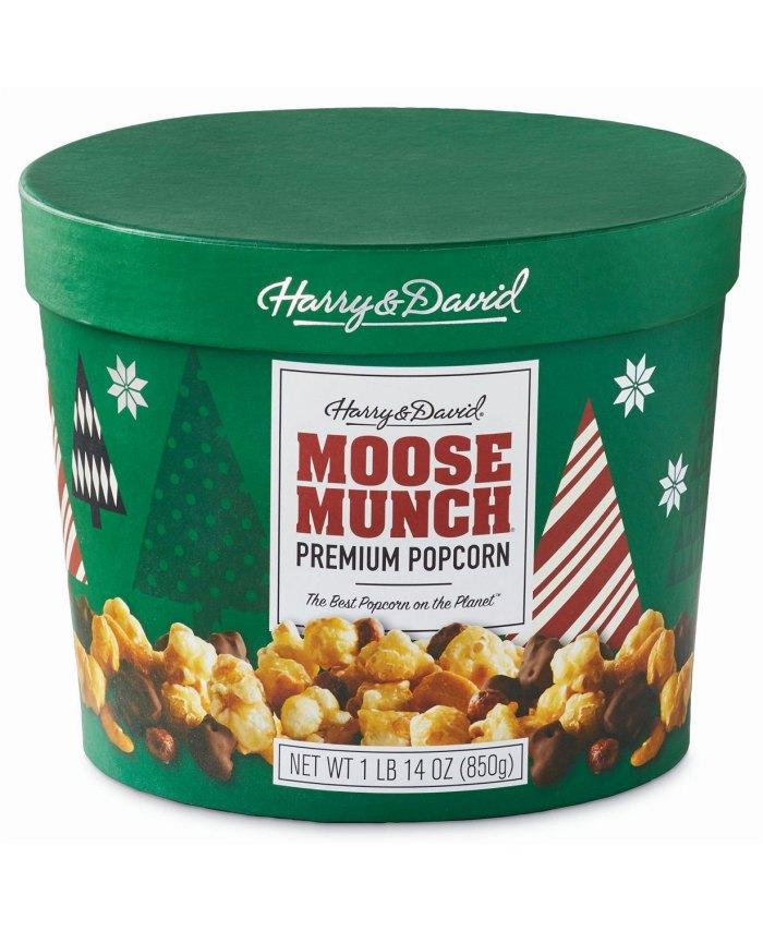 Harry & David Moose Munch Milk Chocolate, Dark Chocolate and Caramel Drum