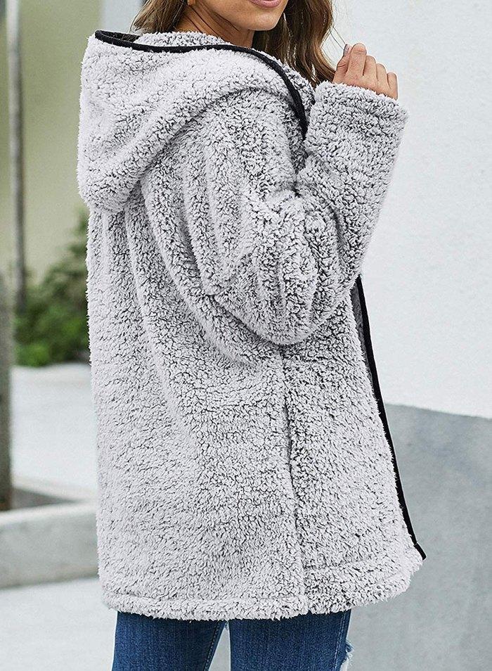Dokotoo Fuzzy Fleece Coat