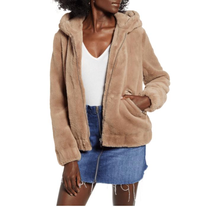 BLANKNYC Siren Teddy Faux Fur Coat