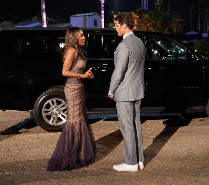 Bachelorette Tayshia Adams Puts Bennett Jordan in His Place