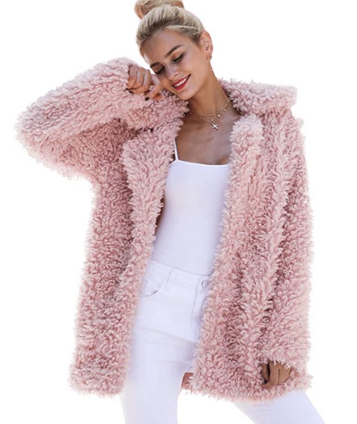 BerryGo Women's Shaggy Long Faux Fur Coat